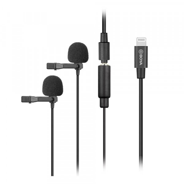 BOYA Duo Clip-on Lavalier Microphone BY-M2D for iOS