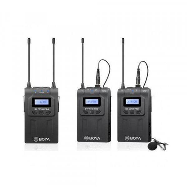 BOYA BY-WM8 Pro-K2 Duo Lavalier draadloze microfoonset
