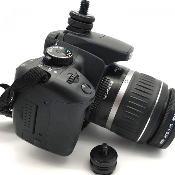 Hotshoe (Coldshoe) DSLR / camera adapter for microphone