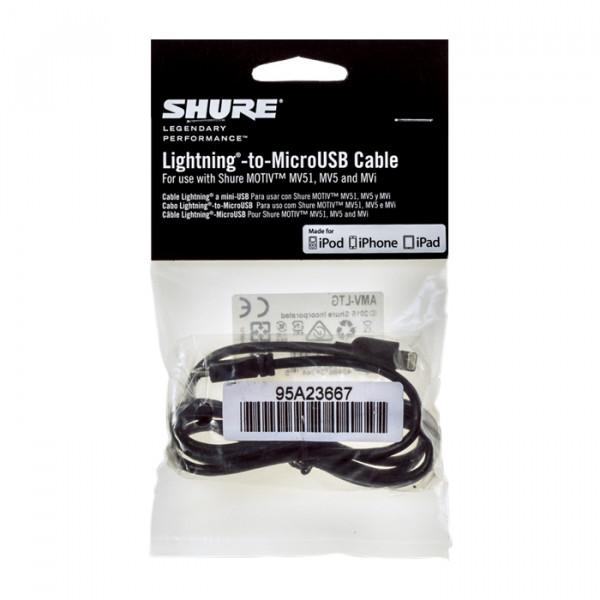 Shure AMV-LTG cable Lightning to MicroUSB