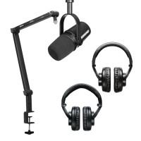 PODCAST SET: Shure MV7 + BOYA BA30 microfoonarm + hoofdtelefoon