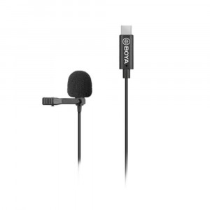 BOYA BY-M3 clip-on lavalier Microphone for USB-C