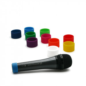 Colored coding rings (M) for handheld microphones
