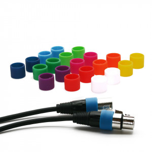 Colored coding rings (S) for XLR cable