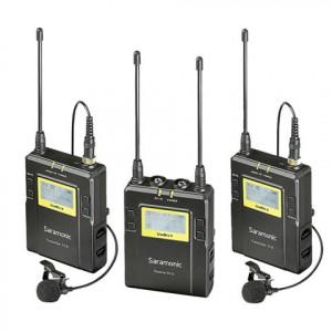 Saramonic UwMic9 TX9 + TX9 + RX9 UHF draadloze lavalier microfoon set