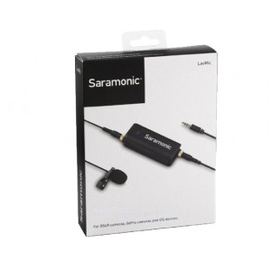 Saramonic Dual Audio Mixer LavMic with Lavalier Microphone