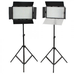 SET: 2x Falcon Eyes DV-384CT-K2 LED Lamp and 2x W806 tripod