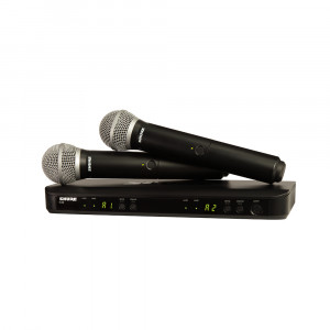 Shure BLX288E/PG58-K14 (614-638 MHz) dual handheld wireless combo system