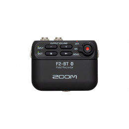 ZOOM F2-BT audio recorder with lavalier mic.