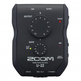 ZOOM U-22 mobile recording and performance interface